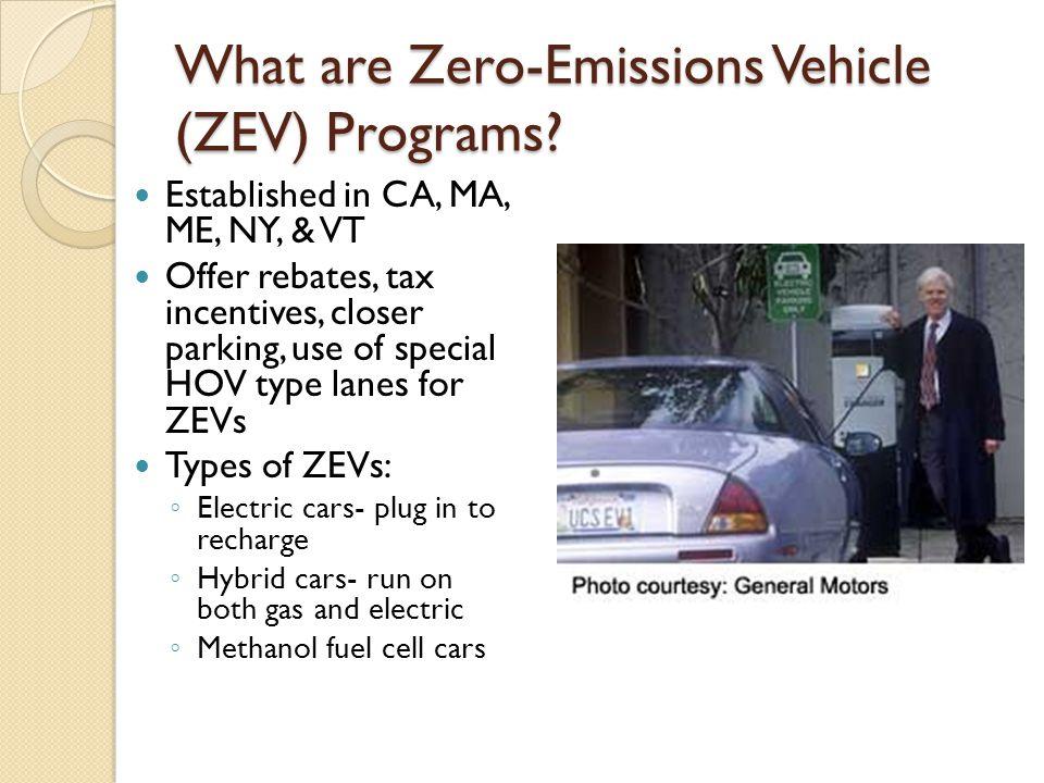What are Zero-Emissions Vehicle (ZEV) Programs