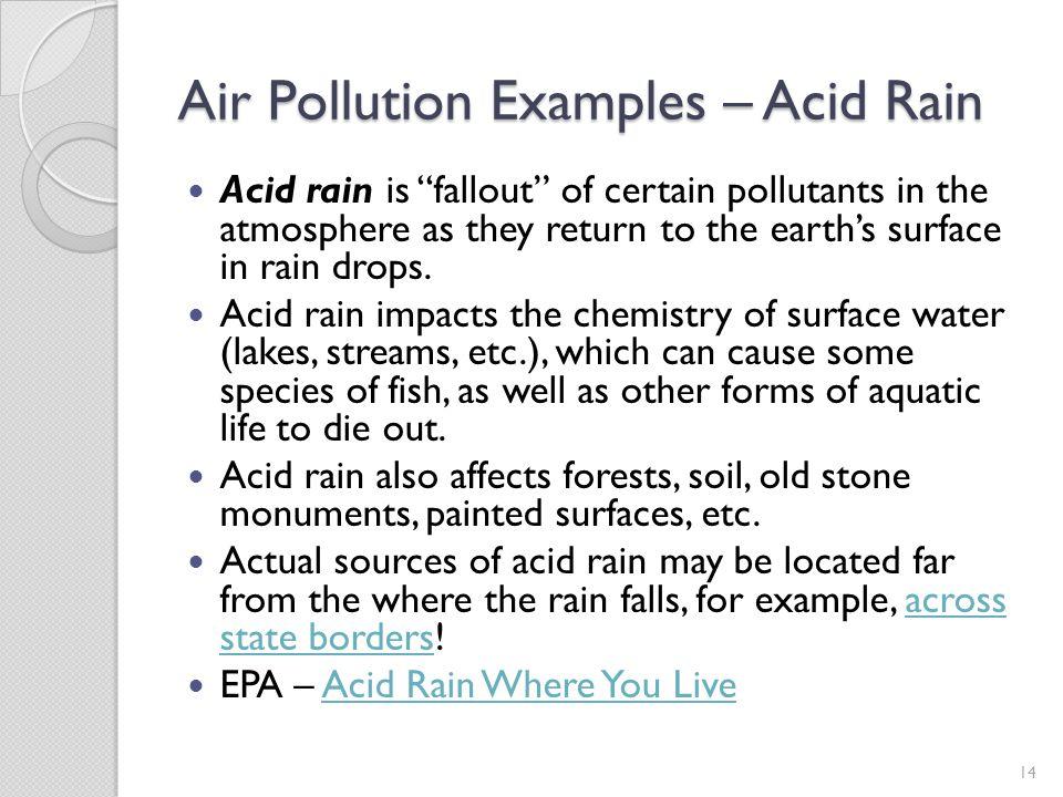 Air Pollution Examples – Acid Rain