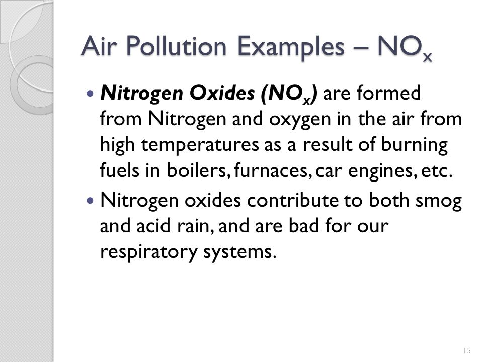 Air Pollution Examples – NOx