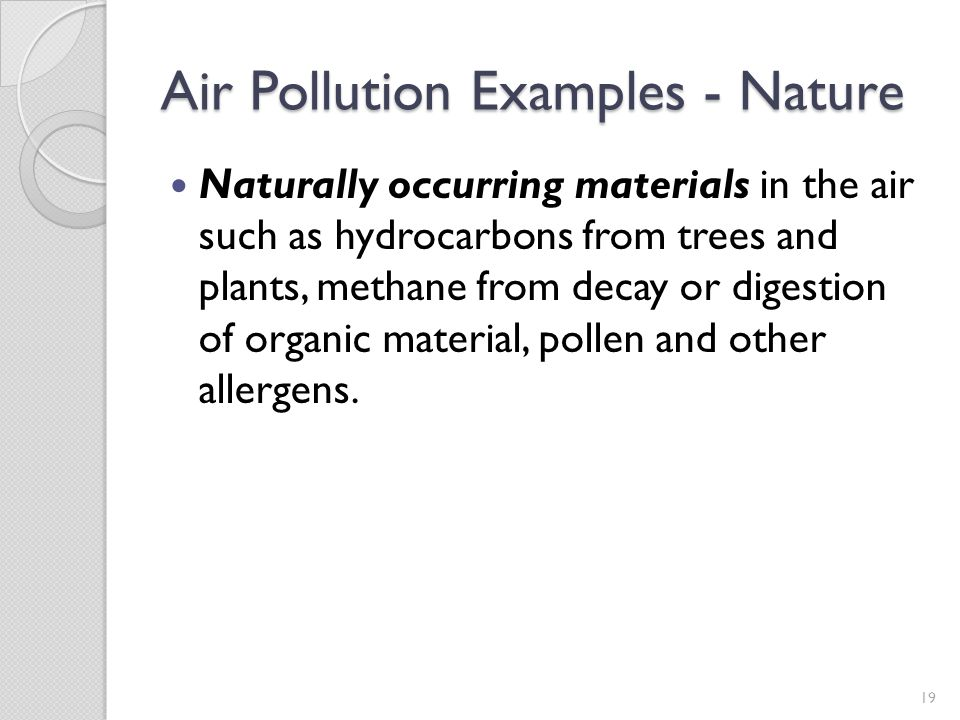 Air Pollution Examples - Nature