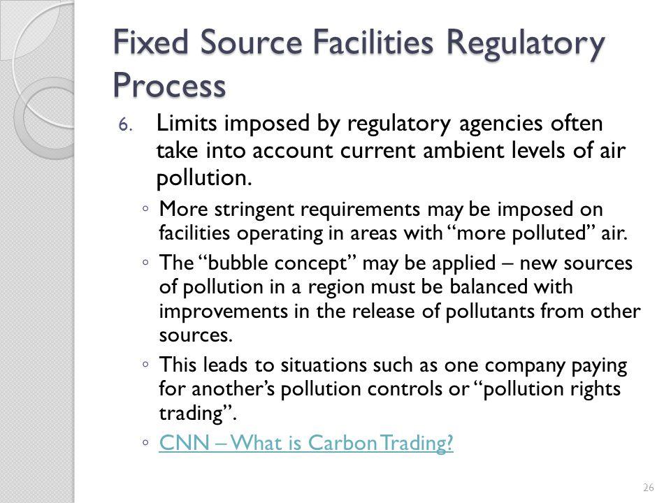 Fixed Source Facilities Regulatory Process