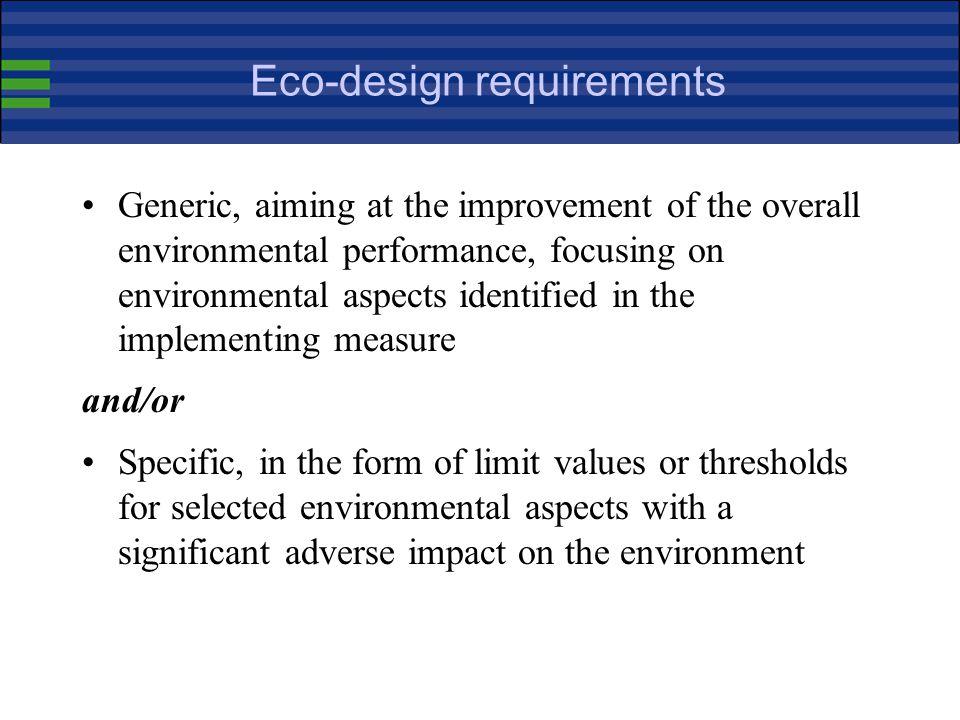 Eco-design requirements