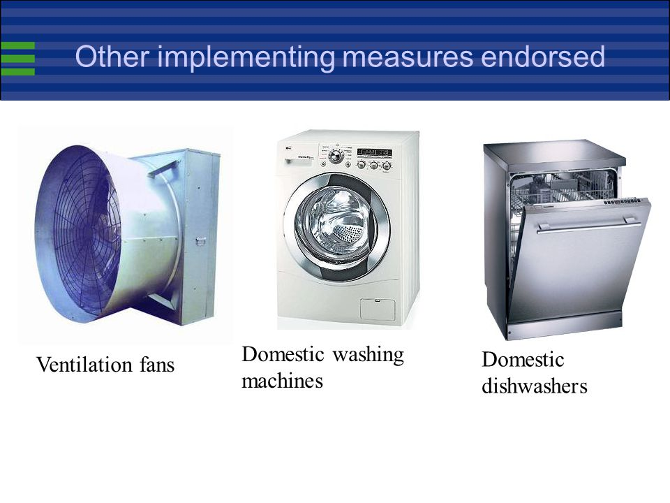 Other implementing measures endorsed