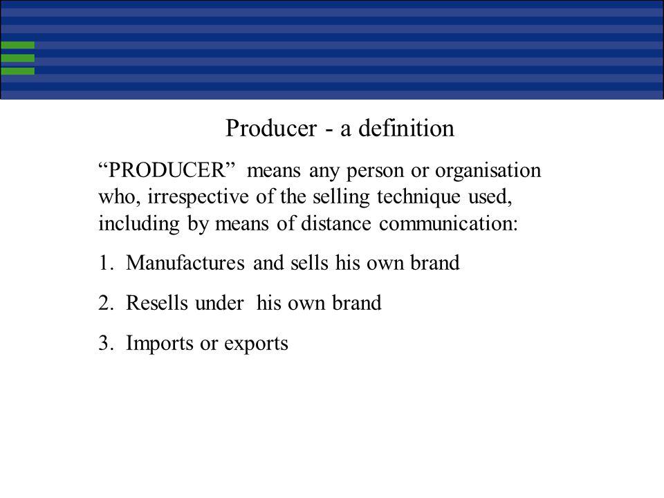 Producer - a definition