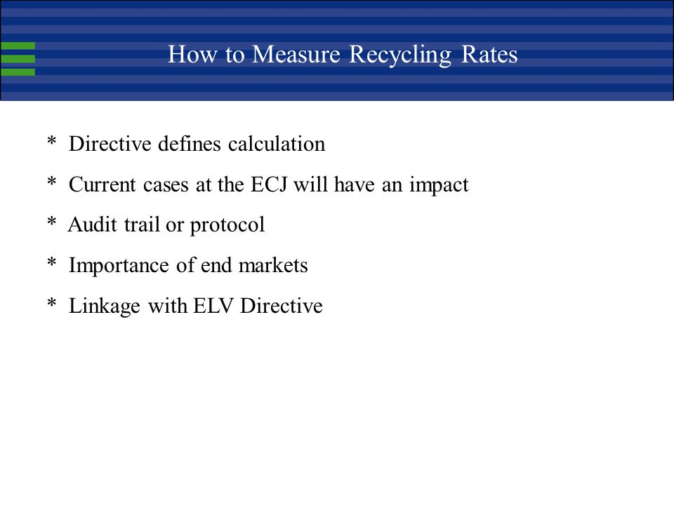 How to Measure Recycling Rates