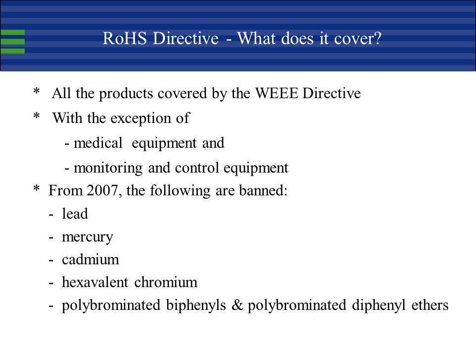 RoHS Directive - What does it cover
