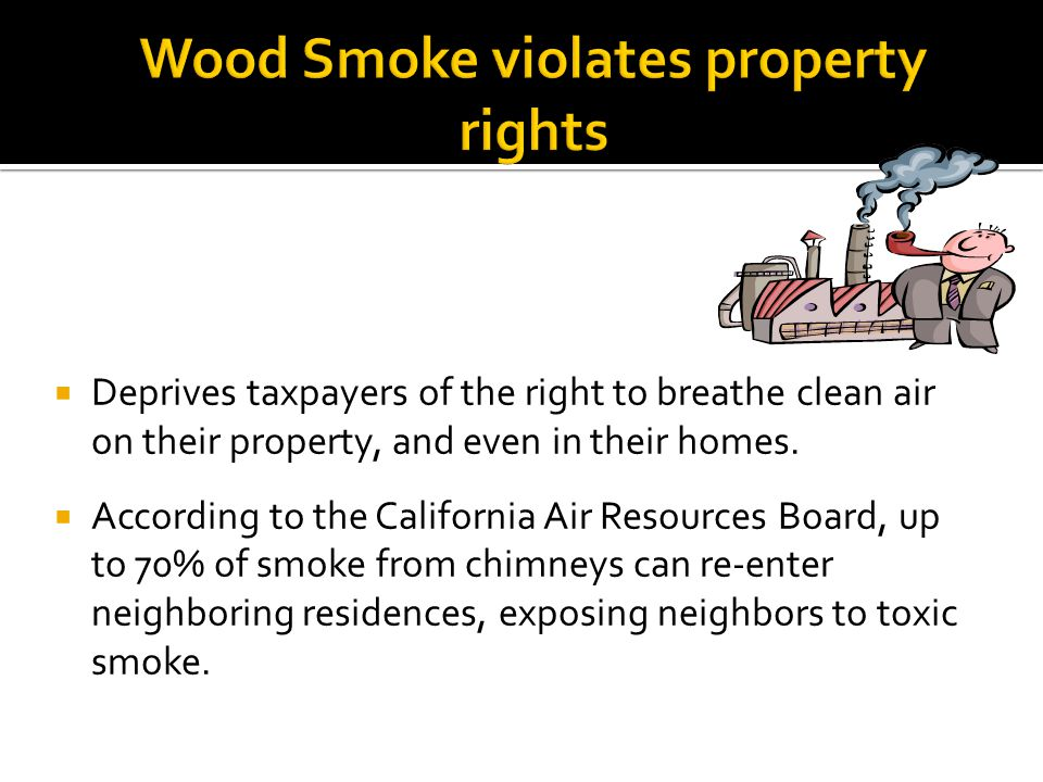 Wood Smoke violates property rights