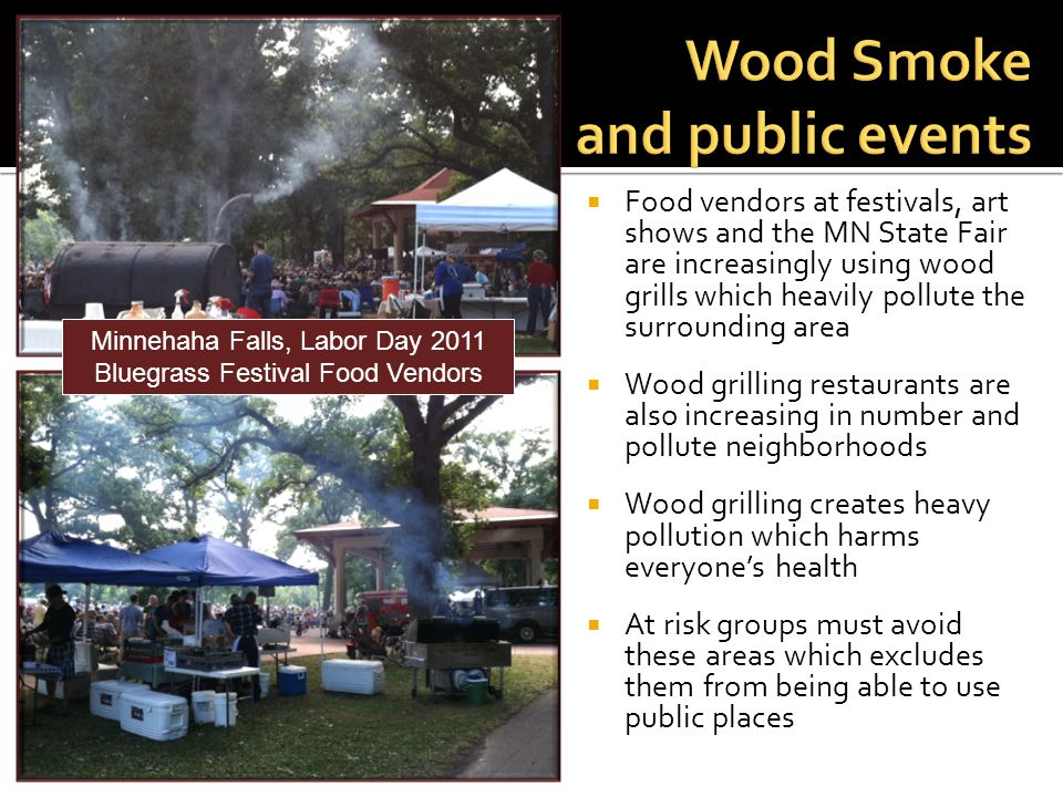 Wood Smoke and public events