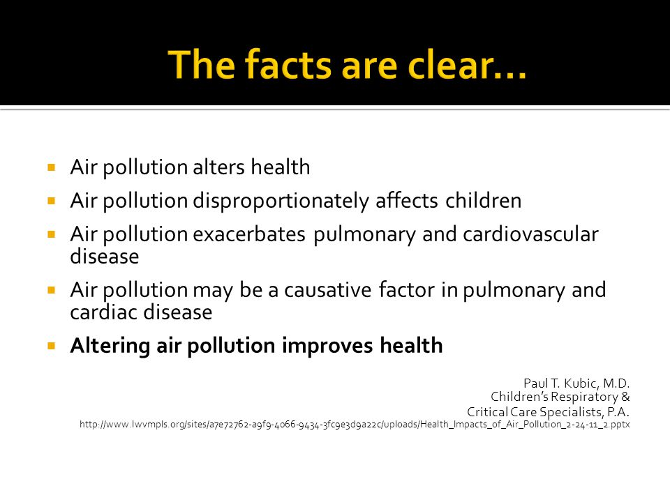 The facts are clear… Air pollution alters health