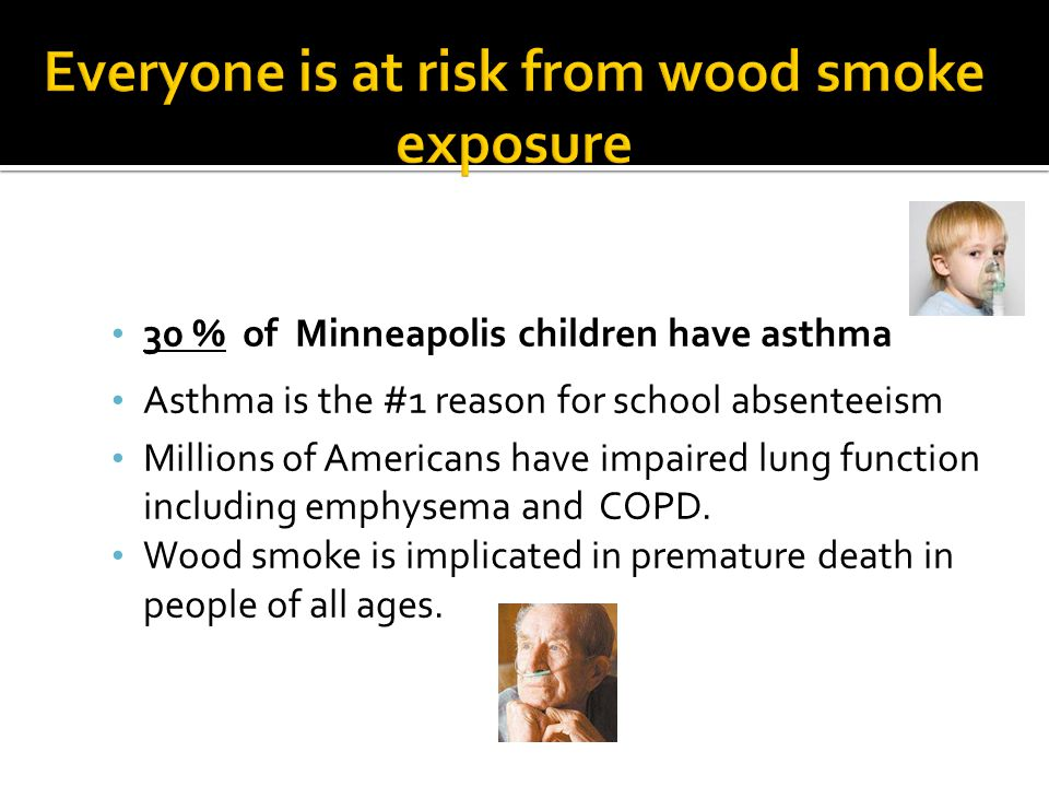 Everyone is at risk from wood smoke exposure