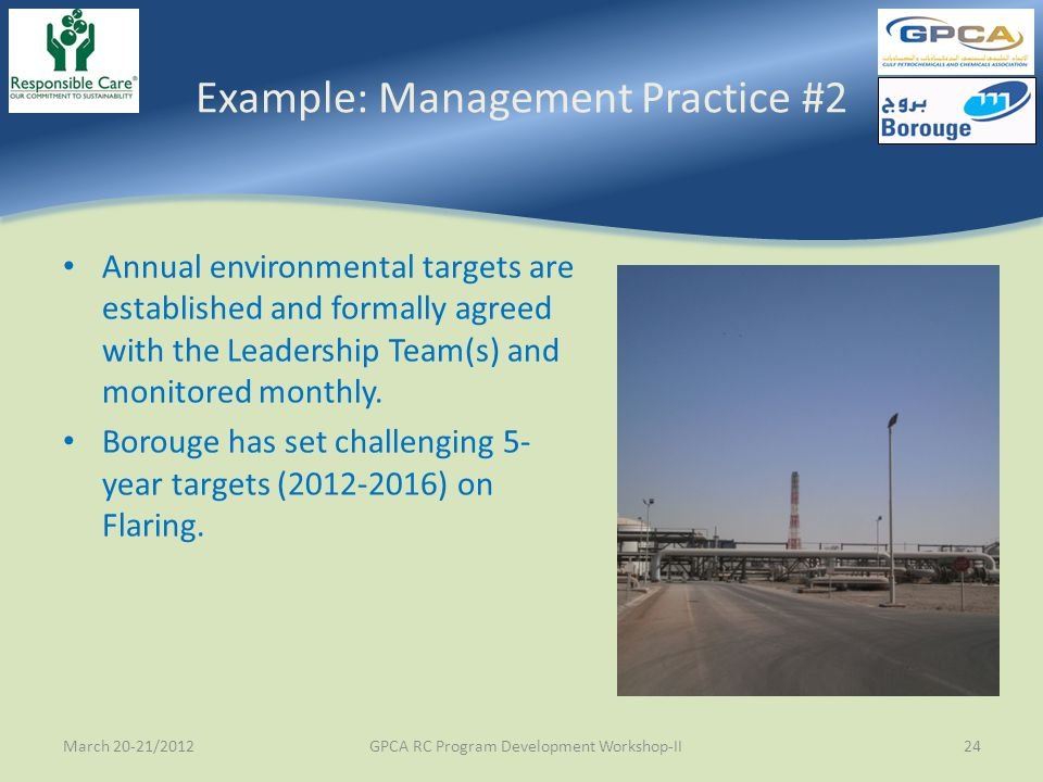 Example: Management Practice #2