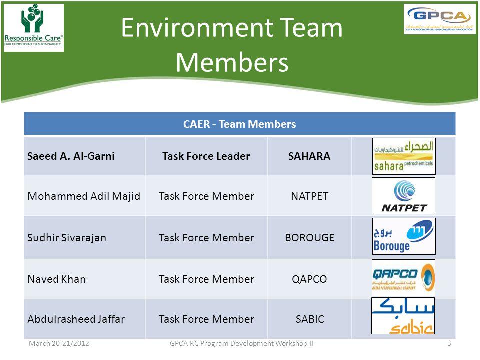 Environment Team Members