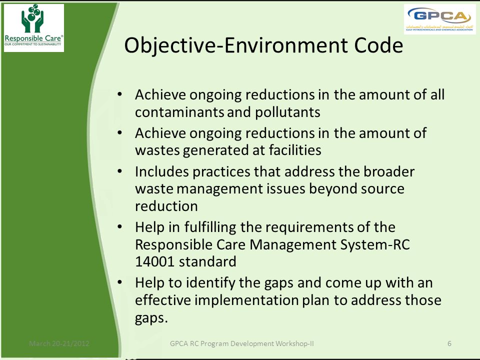 Objective-Environment Code