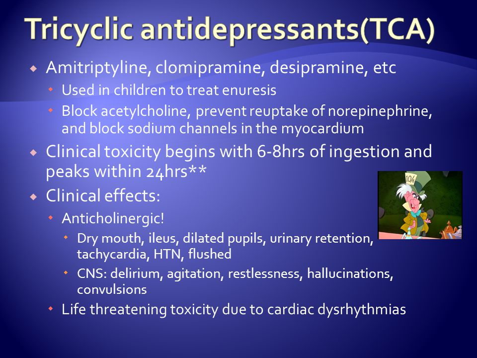 Tricyclic antidepressants(TCA)