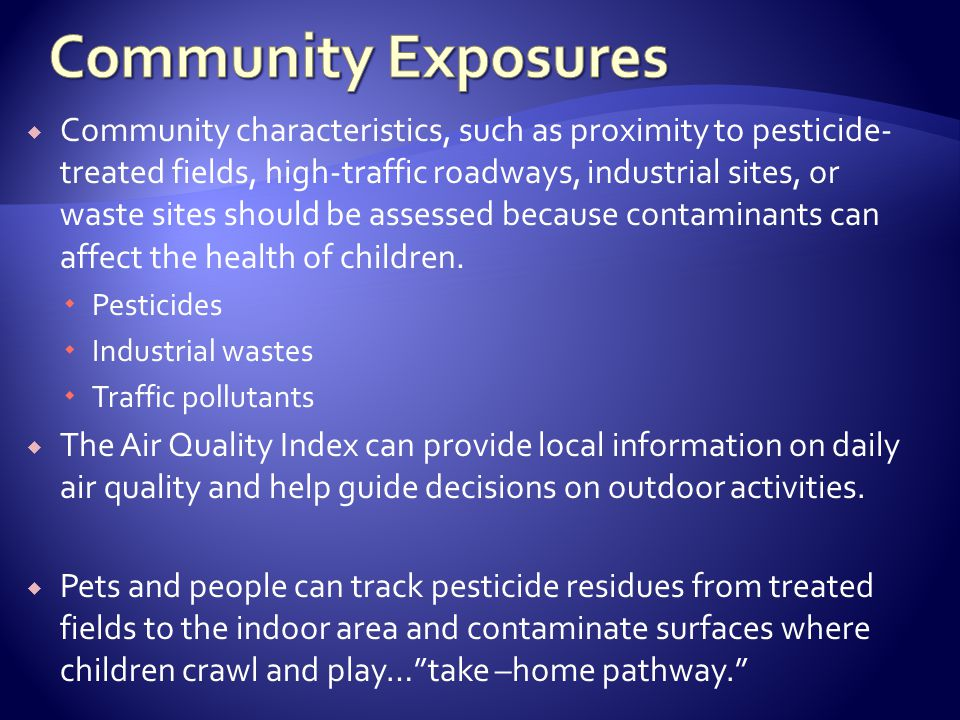Community Exposures