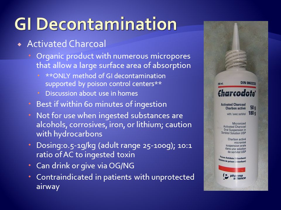 GI Decontamination Activated Charcoal