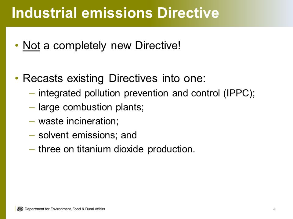 Industrial emissions Directive