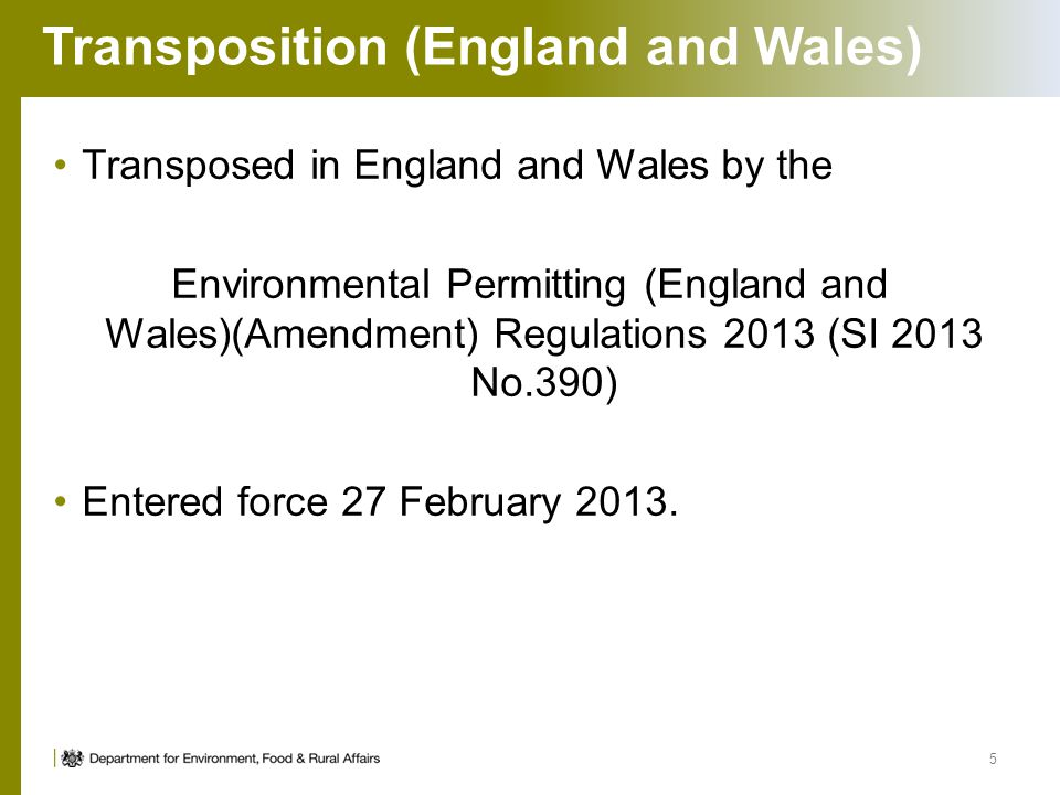 Transposition (England and Wales)