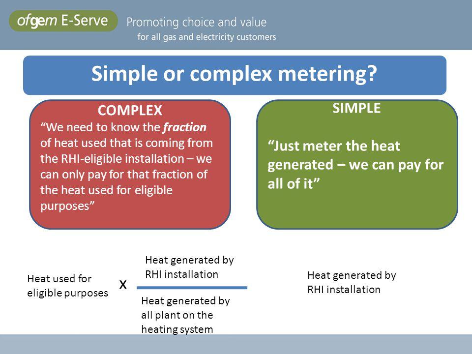 Simple or complex metering Simple or Complex Metering