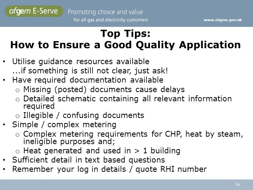 Top Tips: How to Ensure a Good Quality Application