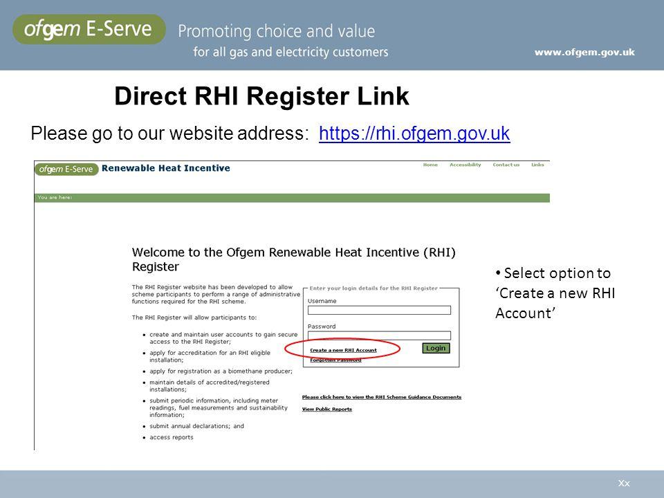 Direct RHI Register Link