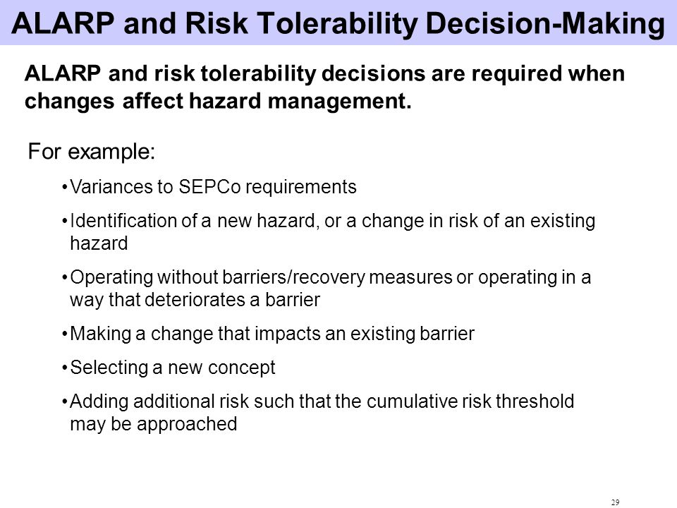 ALARP and Risk Tolerability Decision-Making