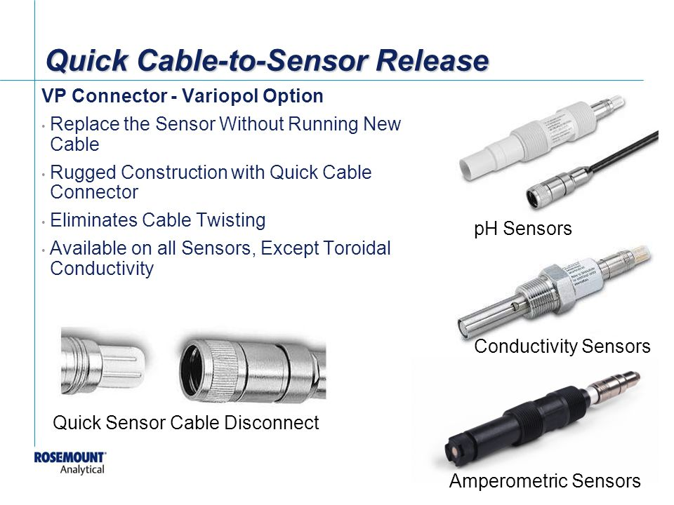 Quick Cable-to-Sensor Release