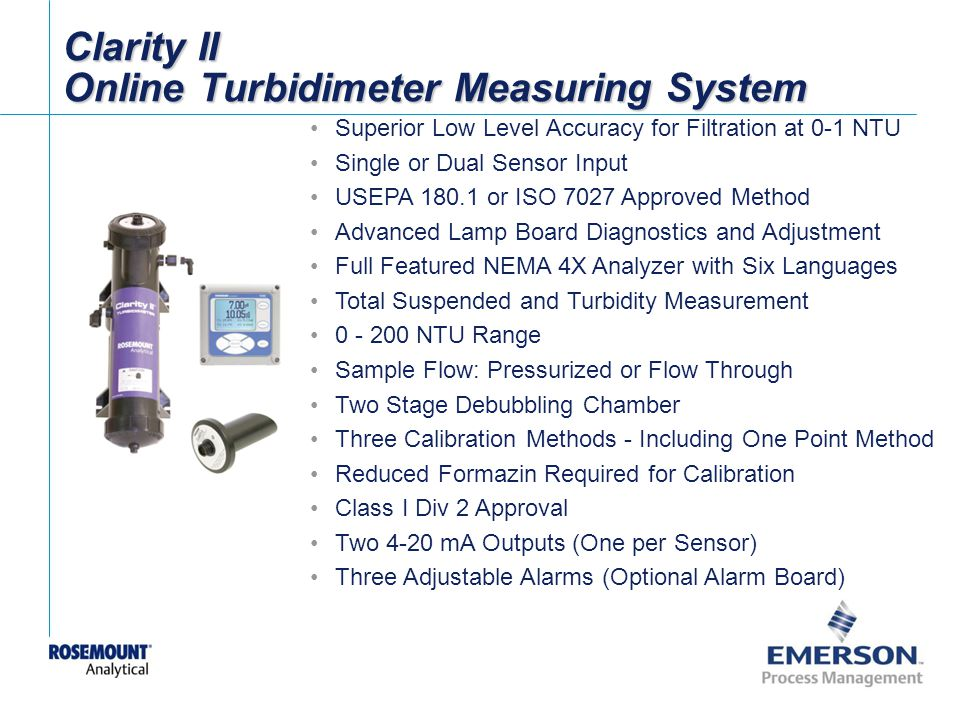 Clarity II Online Turbidimeter Measuring System