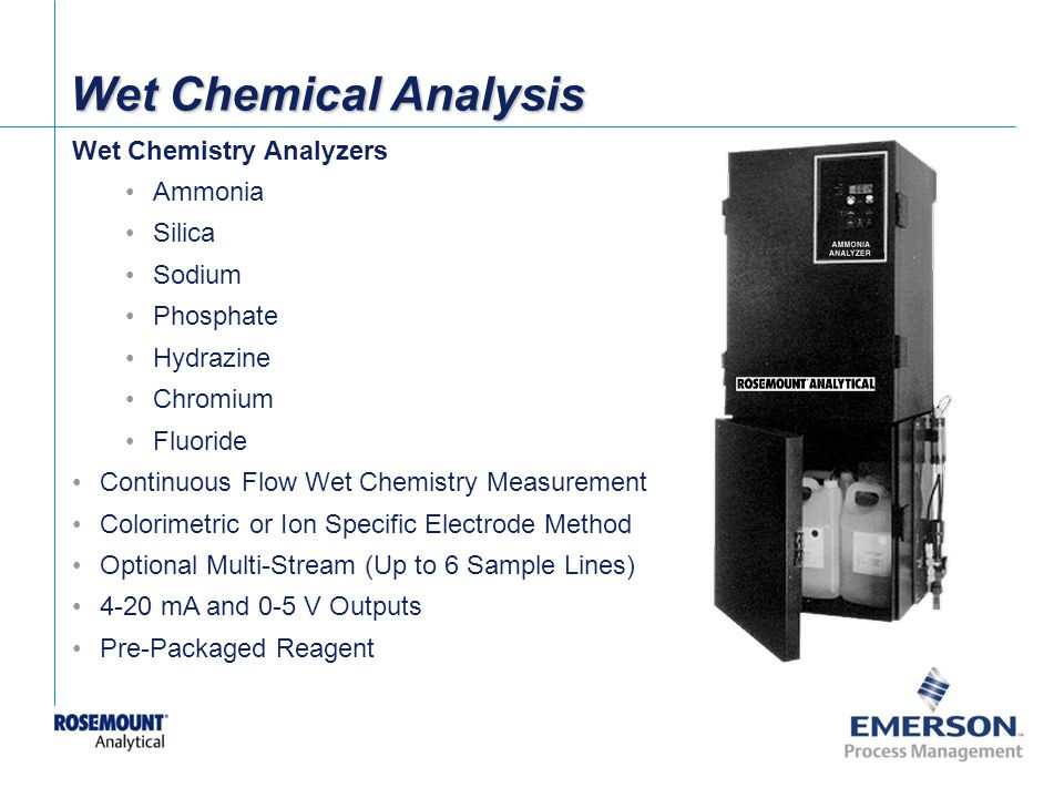 Wet Chemical Analysis Wet Chemistry Analyzers Ammonia Silica Sodium