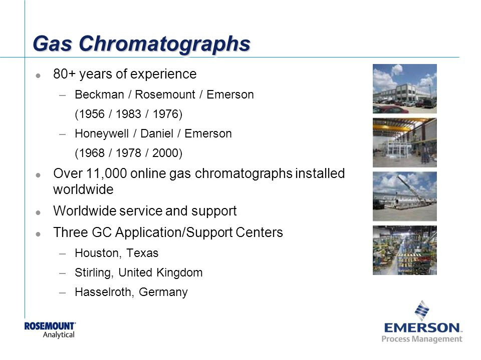 Gas Chromatographs 80+ years of experience