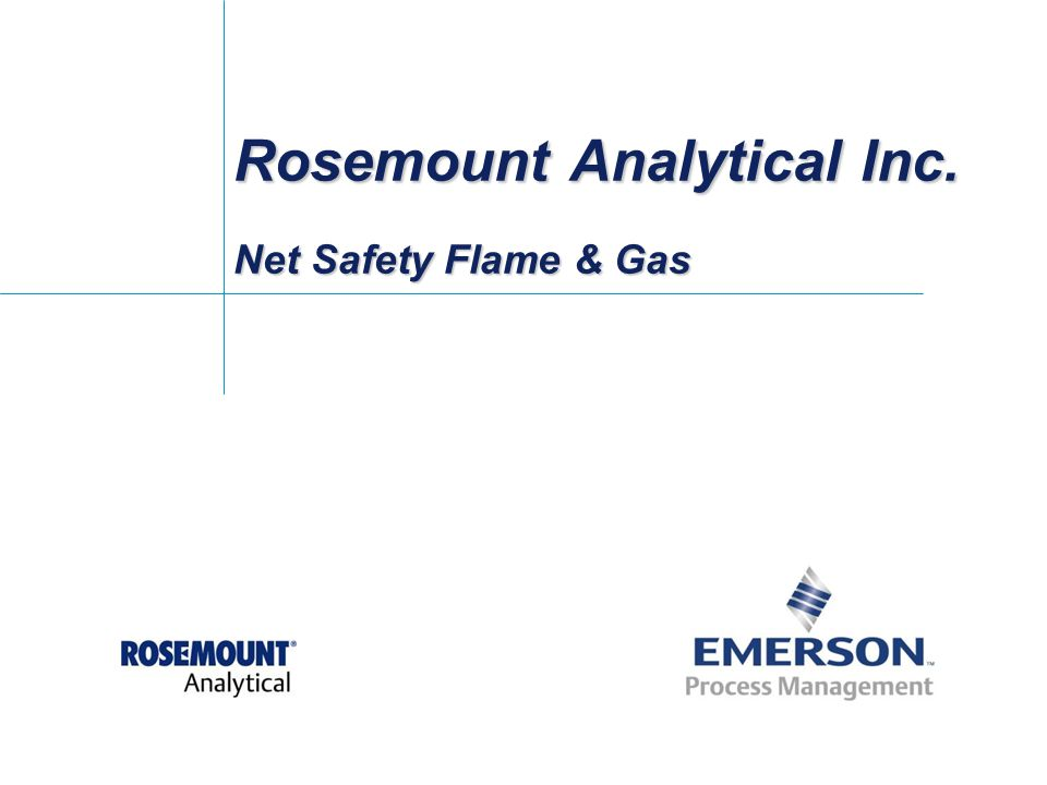 Rosemount Analytical Inc. Net Safety Flame & Gas
