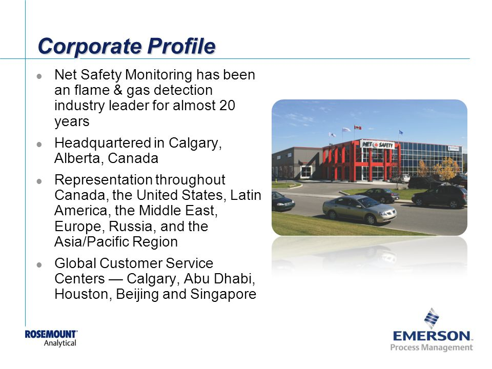 Corporate Profile Net Safety Monitoring has been an flame & gas detection industry leader for almost 20 years.