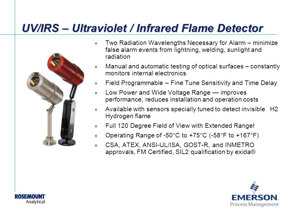 UV/IRS – Ultraviolet / Infrared Flame Detector