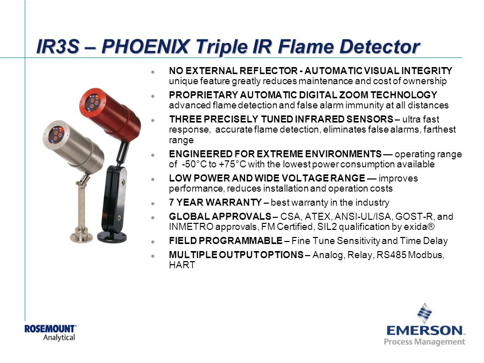 IR3S – PHOENIX Triple IR Flame Detector