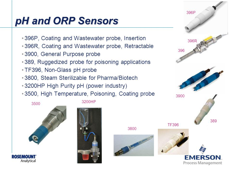 pH and ORP Sensors 396P, Coating and Wastewater probe, Insertion