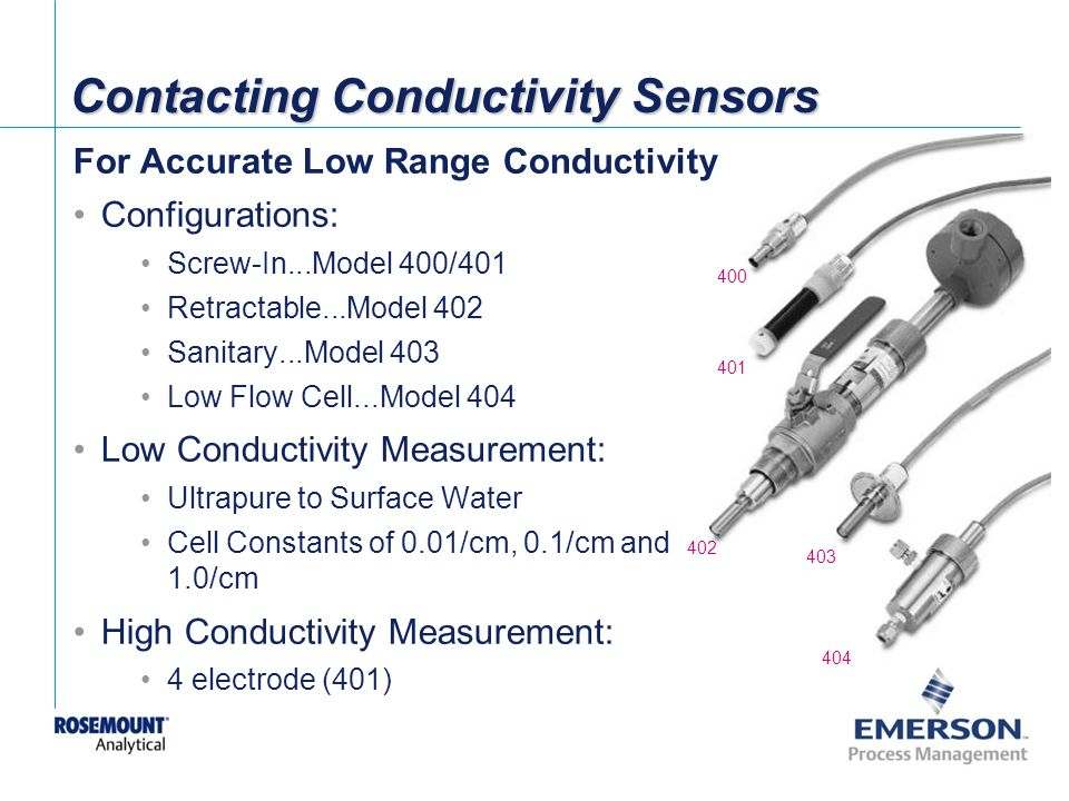 Contacting Conductivity Sensors