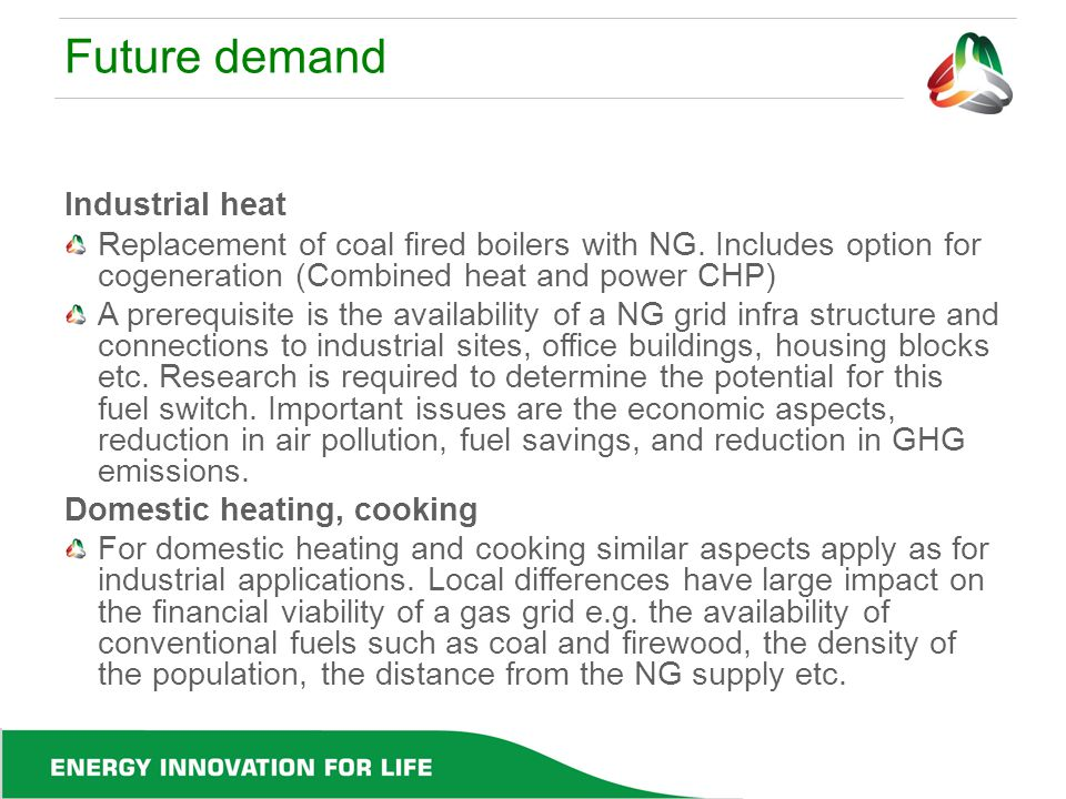 Future demand Industrial heat
