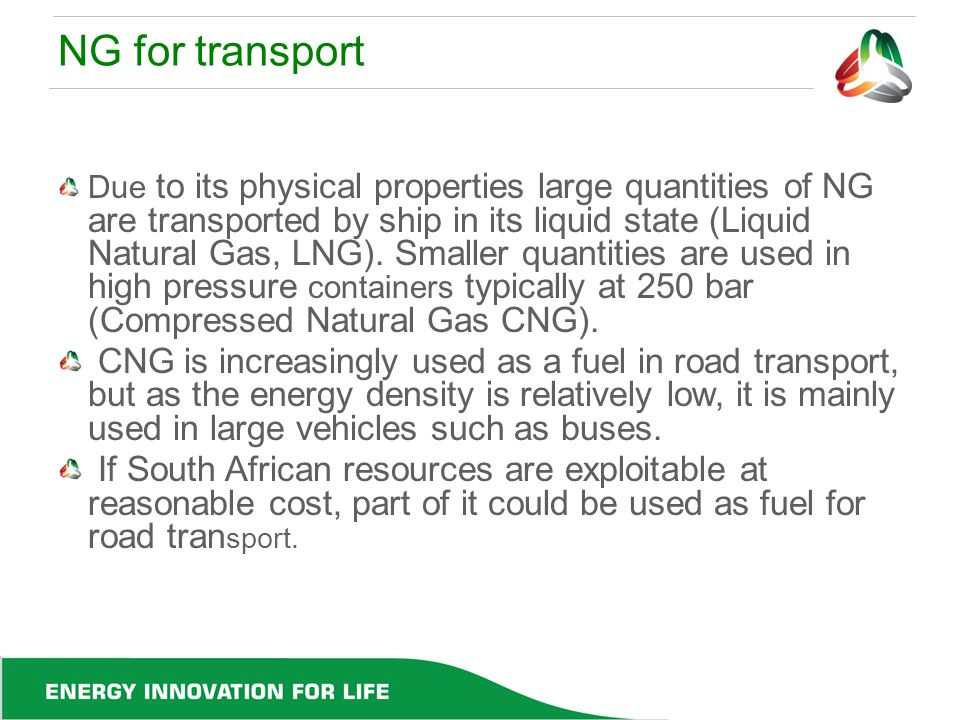 NG for transport