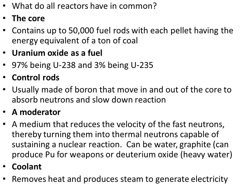 What do all reactors have in common