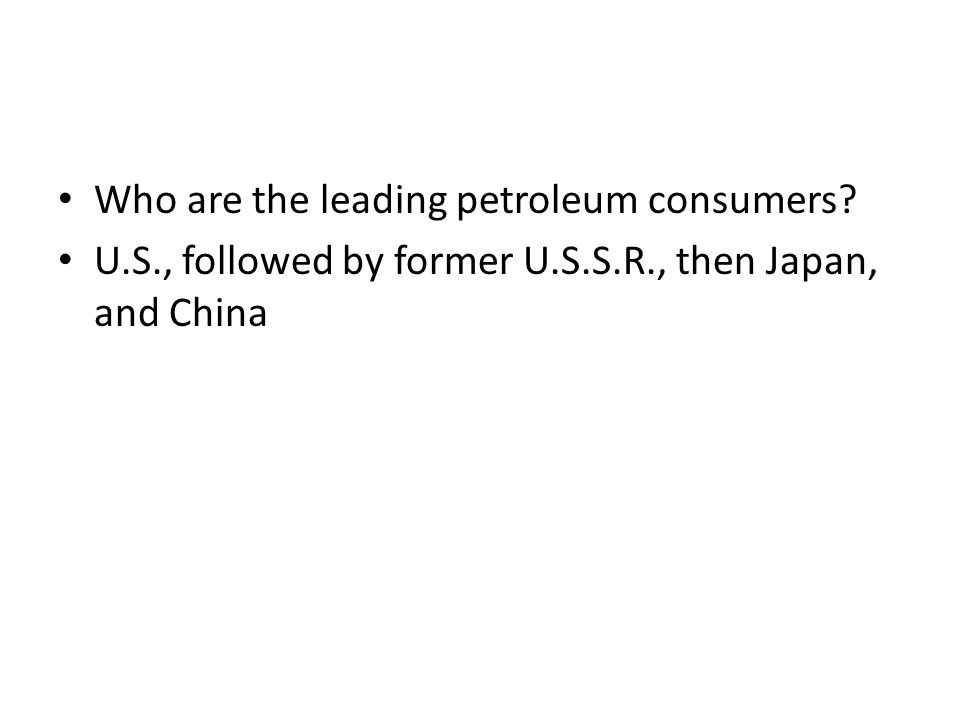 Who are the leading petroleum consumers