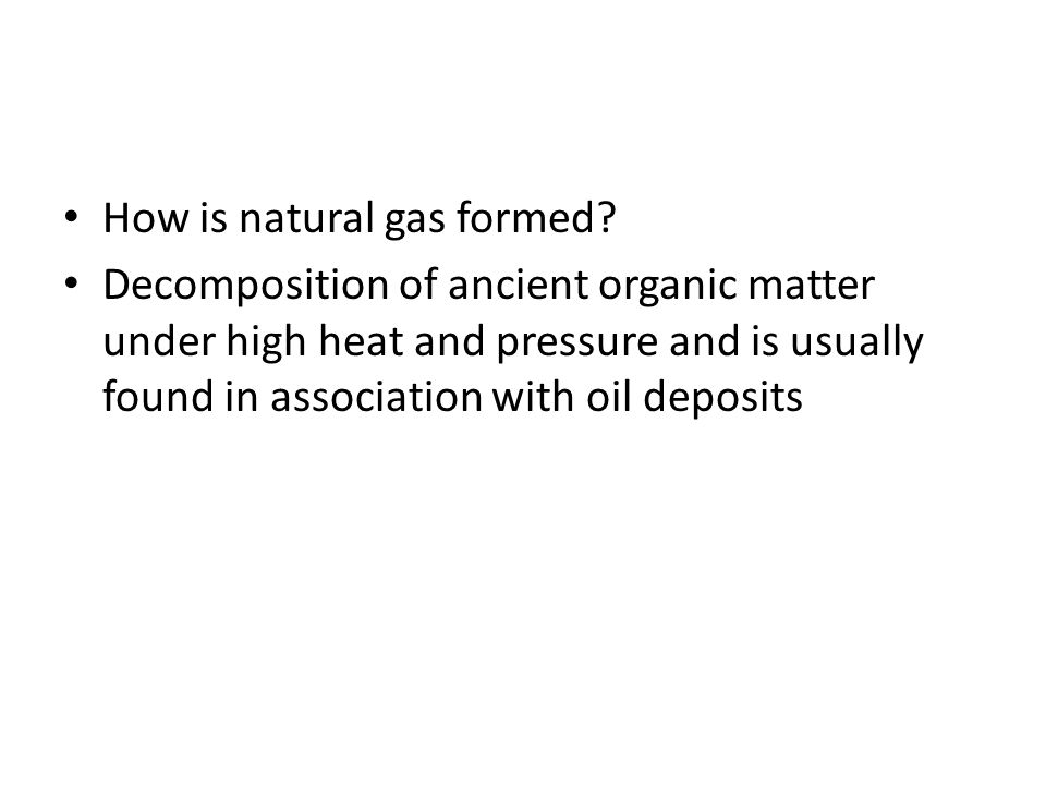 How is natural gas formed
