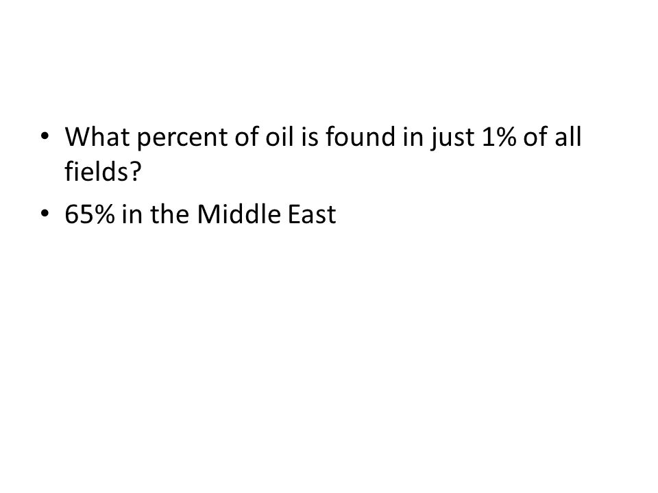 What percent of oil is found in just 1% of all fields
