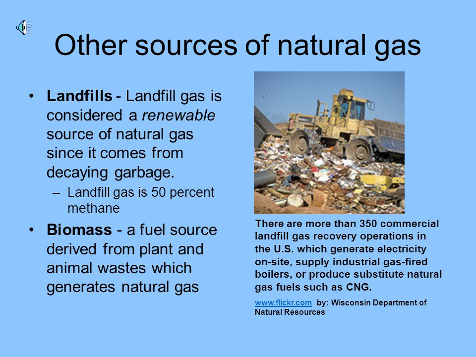 Other sources of natural gas
