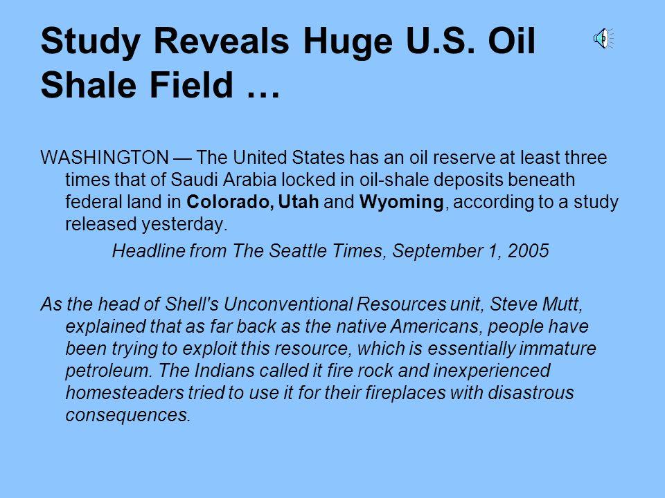 Study Reveals Huge U.S. Oil Shale Field …