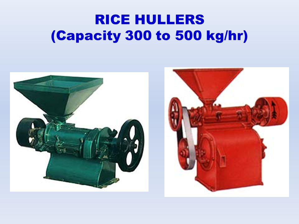 RICE HULLERS (Capacity 300 to 500 kg/hr)