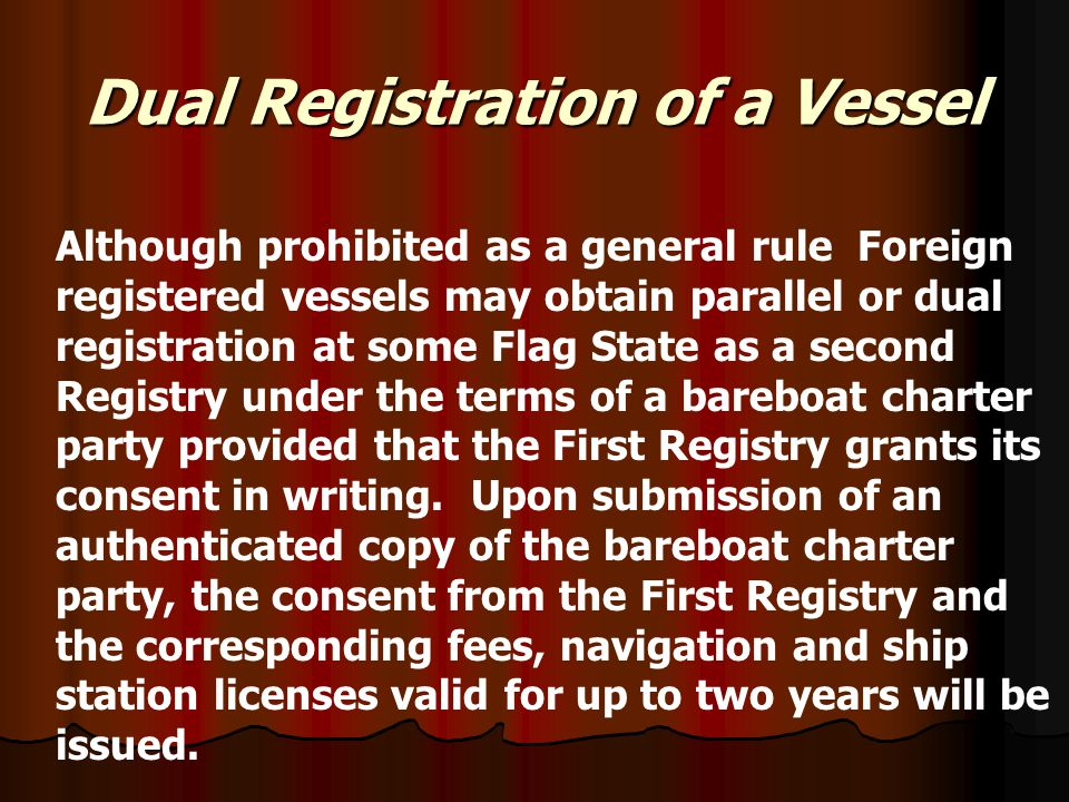 Dual Registration of a Vessel