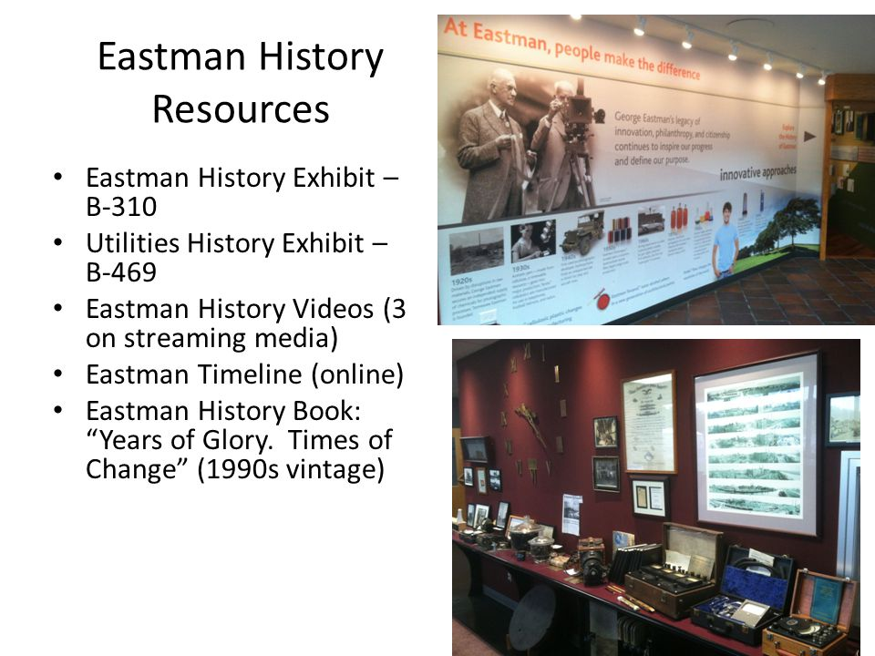 Eastman History Resources