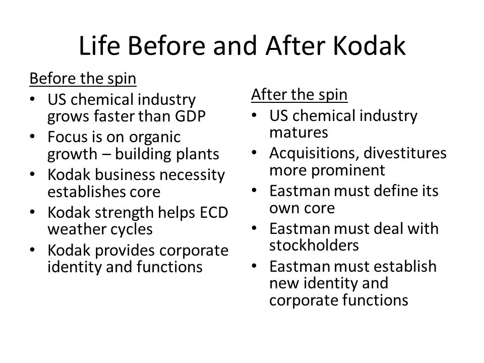 Life Before and After Kodak