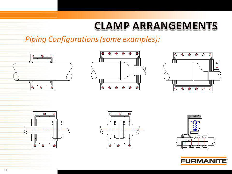 CLAMP ARRANGEMENTS Piping Configurations (some examples):
