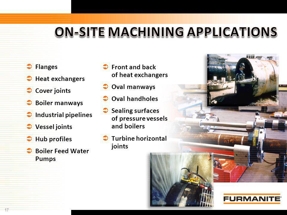 ON-SITE MACHINING APPLICATIONS